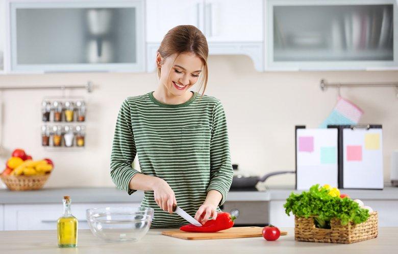 Frisches Obst und Gemüse gehört zur fettarmen Küche einfach dazu.