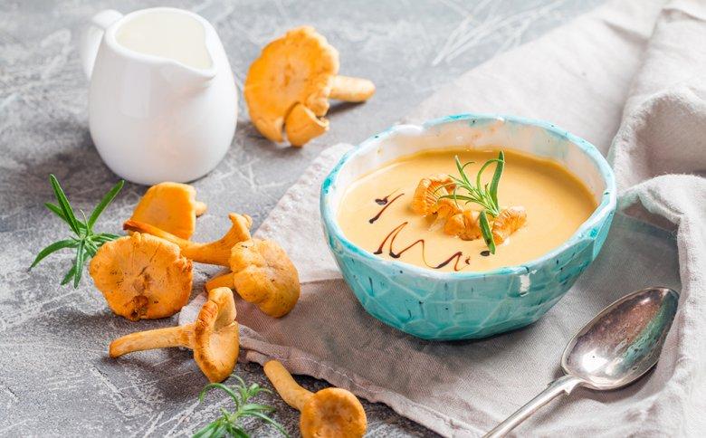 Eine Pfifferling-Cremesuppe ist etwas Besonderes.