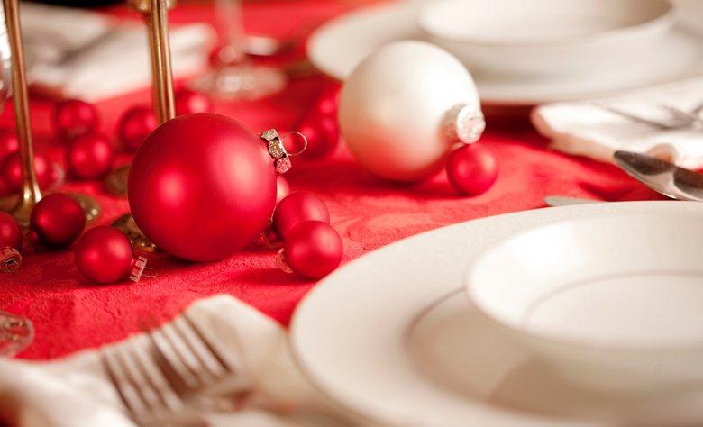 Zu jedem Weihnachtsessen gehört natürlich eine bezaubernde Tischdeko.