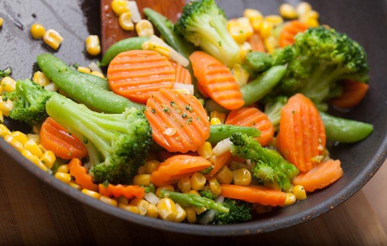 Auch gebratenes Gemüse kann sich sehen lassen.