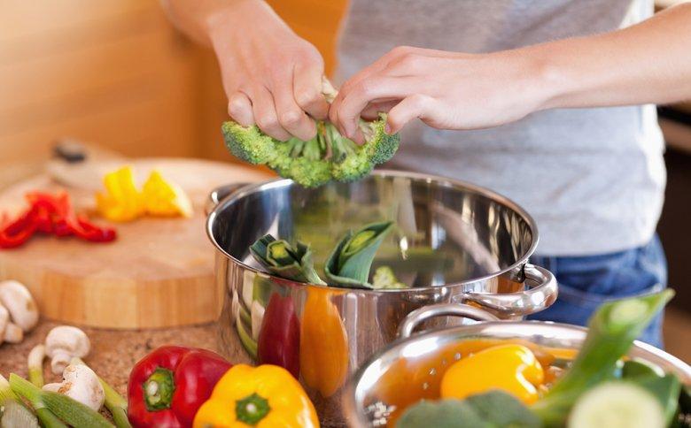 Gemüse eignet sich sehr gut zum Dünsten.