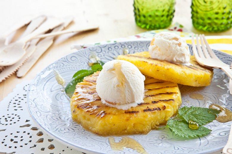 Gegrillte Ananas sorgt für Urlaubs-Stimmung auf jeder Grillparty.