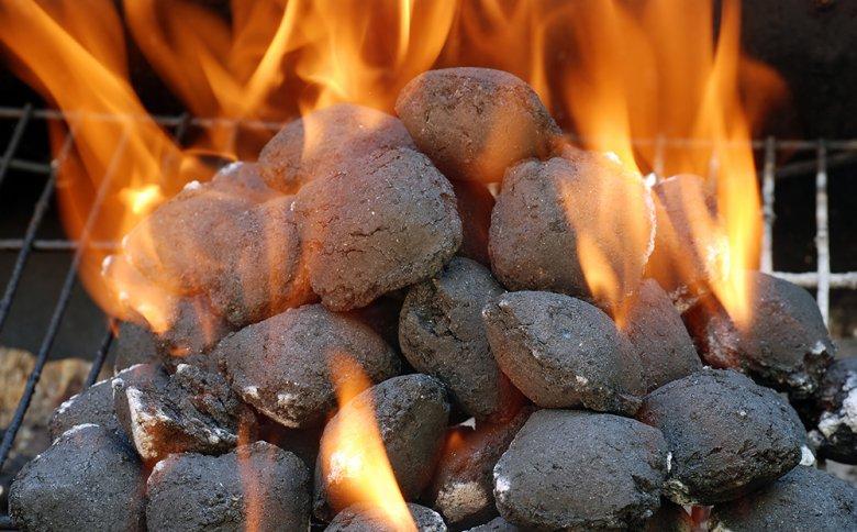 Der Vorteil von Holzkohlebriketts besteht in der Langlebigkeit der Glut.