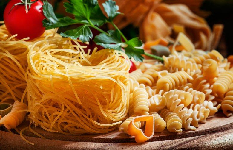 Pasta ist in vielen Größen und Formen erhältlich.