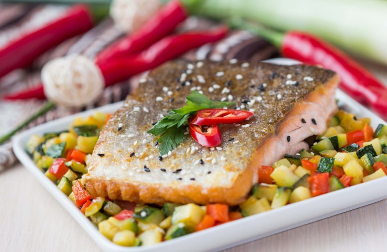 Gemüse, Fisch und auch Fleisch können wunderbar im Dampfgarer zubereitet werden.
