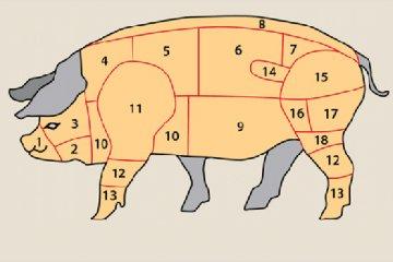 Fleischstücke vom Schwein