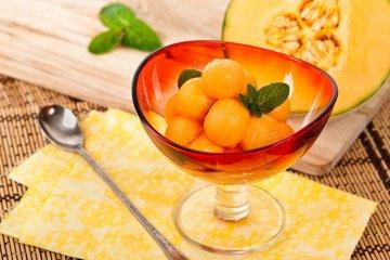 Zuckersüße Desserts aus Melone