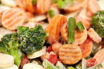 Frisches Gemüse hat mehr Vitamine als das aus der Tiefkühltruhe