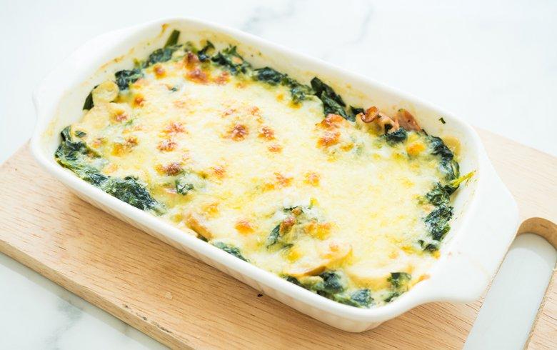 Gerichte mit Spinat sind schmackhaft und gesund.