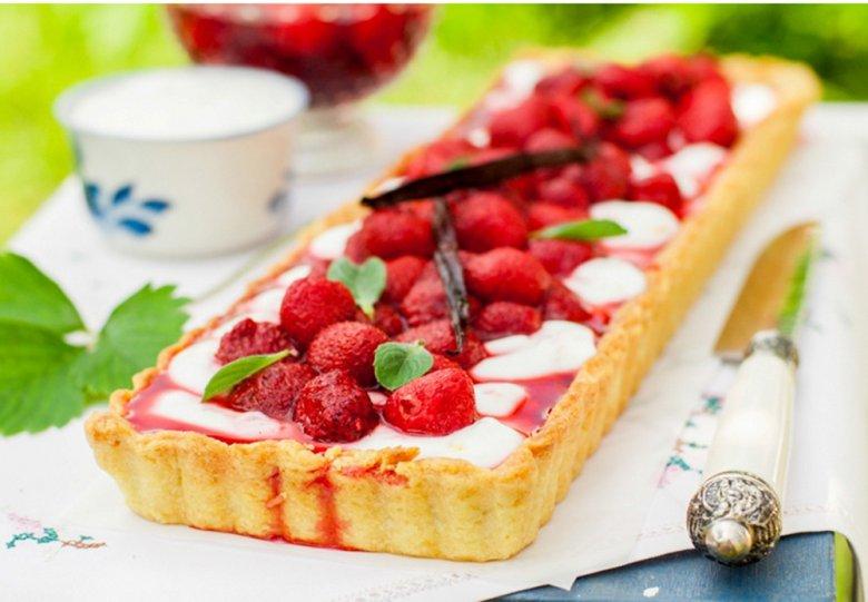 Schneller Erdbeer-Quark-Kuchen