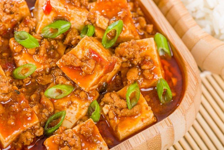 Der chinesische Klassiker Mapo Tofu stammt aus Sichuan-Küche.