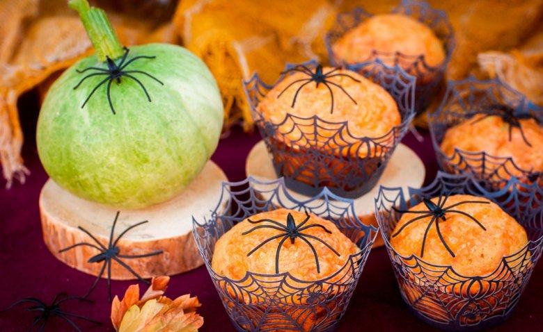 Pikante Halloweenmuffins sind ein wahrer Blickfang.