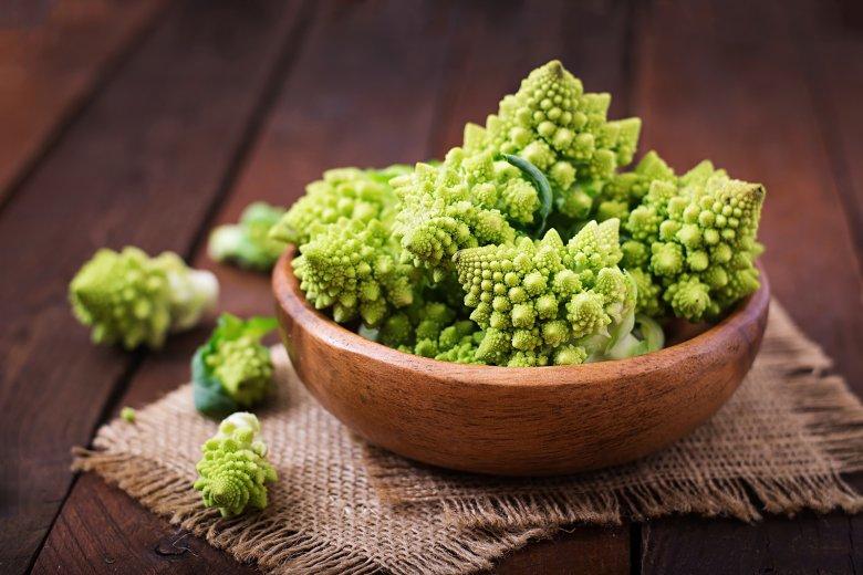 Romanesco überzeugt mit einem milden Geschmack sowie mit seiner frischen, grünen Farbe.