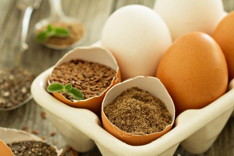 Leinsamen eignet sich als Ei-Ersatz, ideal für Brot und herzhaftes Gebäck.