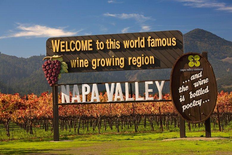 Napa Valley in Kalifornien ist das größte und bekannteste Weinbaugebiet in den USA.