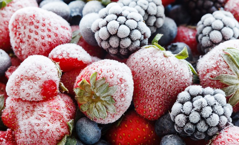 Gefrorene Beeren sollten nach dem Auftauen so schnell wie möglich weiterverarbeitet werden.