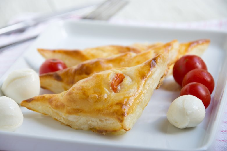 Mozzarellataschen mit Tomaten