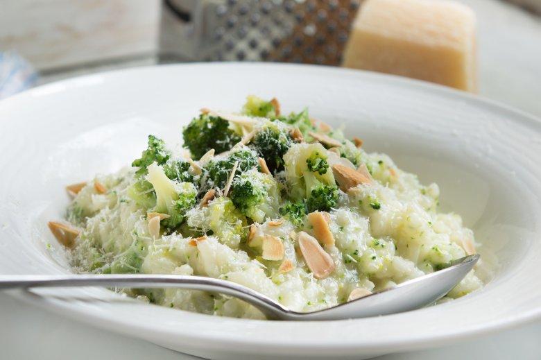 Brokkoli-Risotto mit Mandeln