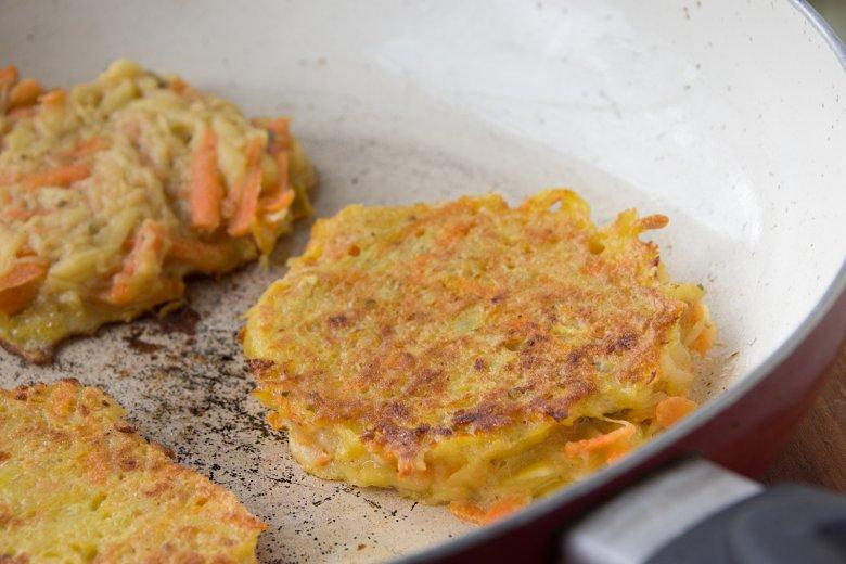 Kartoffelpuffer mit Kürbis