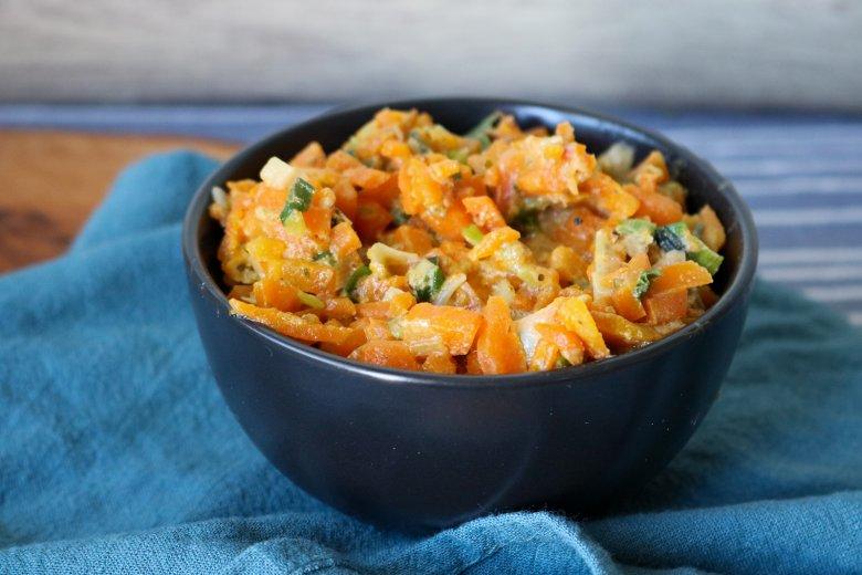 Cremige Karottensauce mit Lauch