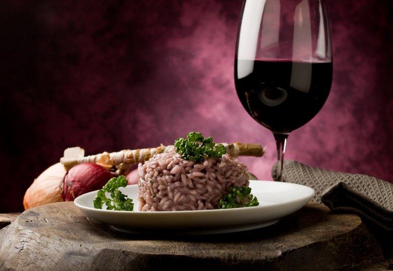 Risotto mit Rotwein