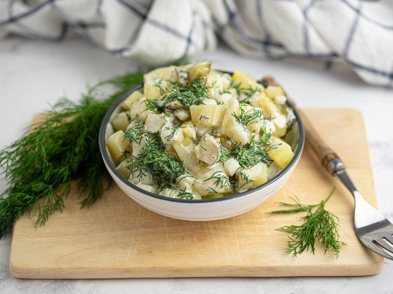 Norddeutscher und veganer Kartoffelsalat