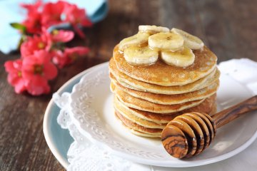 Vegane Bananenpancakes