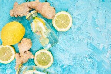 Zitronen-Ingwer-Wasser