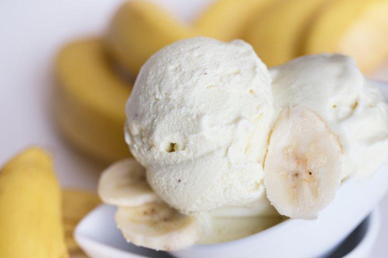 Eis aus Kokos und Banane