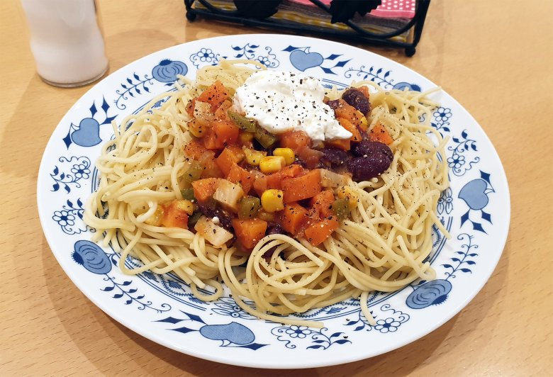 Chili sin carne Spaghetti