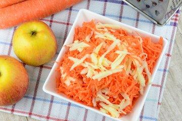 Karottensalat mit Apfel