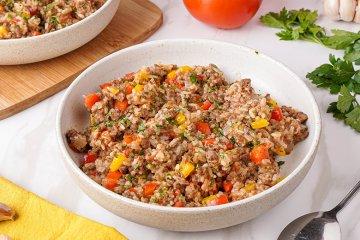 Djuvec-Reis mit Hackfleisch