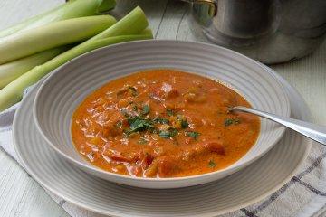 vegetarische Käse-Lauch-Suppe