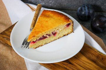 Pflaumenkuchen mit Quark
