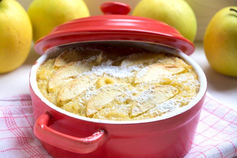 Reiskuchen mit Apfelspalten