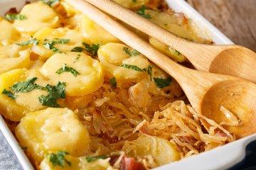 Sauerkraut Auflauf mit Kartoffeln