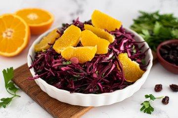 Rotkohlsalat mit Orangen