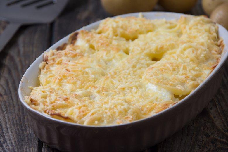 Überbackene Käse-Kartoffel