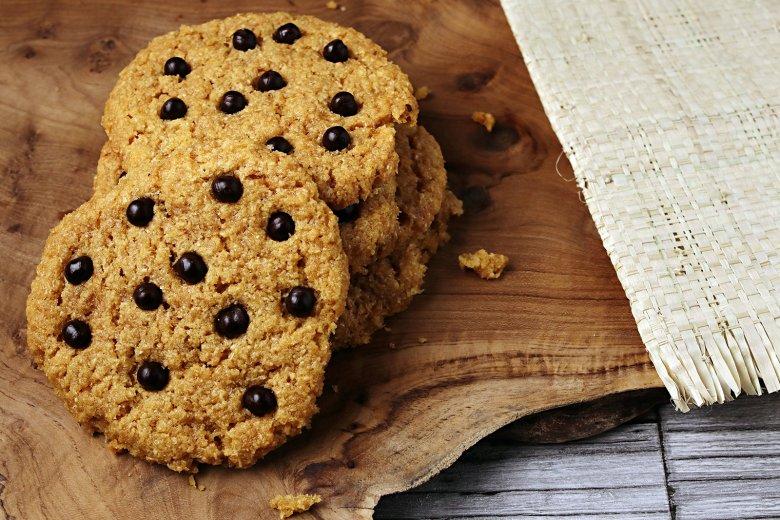 Kokoscookies mit Schokolade