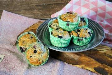 Blaubeeren-Muffins mit Banane