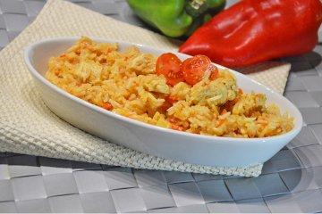 Risotto mit Huhn und Tomaten