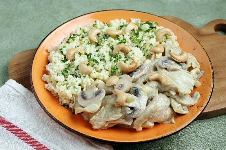 Pilz-Pfanne mit Couscous