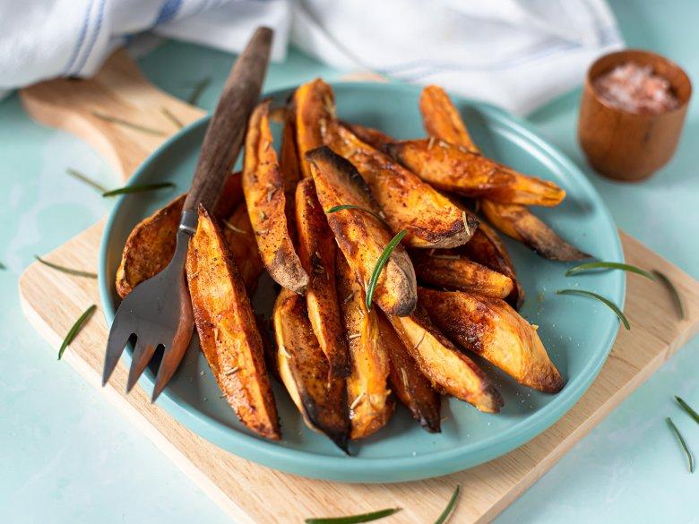 Kartoffelecken aus Süßkartoffeln