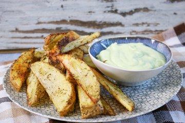 Kartoffelecken aus der Heißluftfritteuse