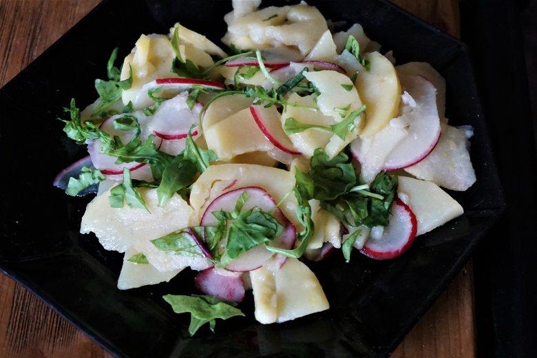 Kartoffelsalat mit Apfel
