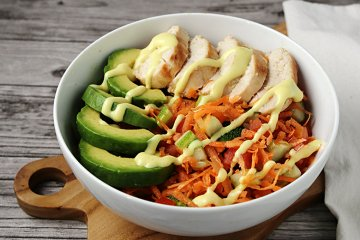 Low Carb Bowl mit Huhn
