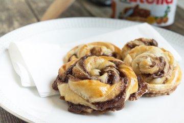 Nutella Blätterteigschnecken