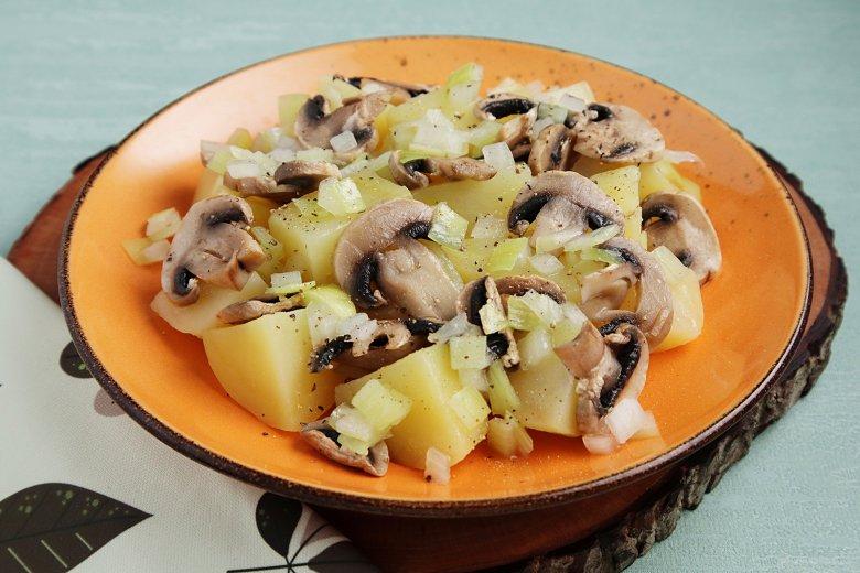 Kartoffel-Pilz-Gericht aus der Mikrowelle