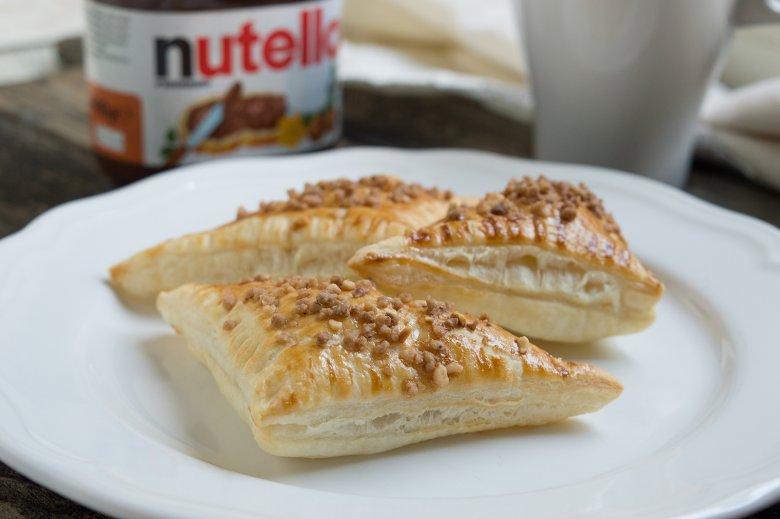 Nutella-Blätterteigtaschen