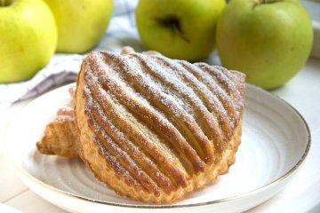 Blätterteigtaschen mit Apfel
